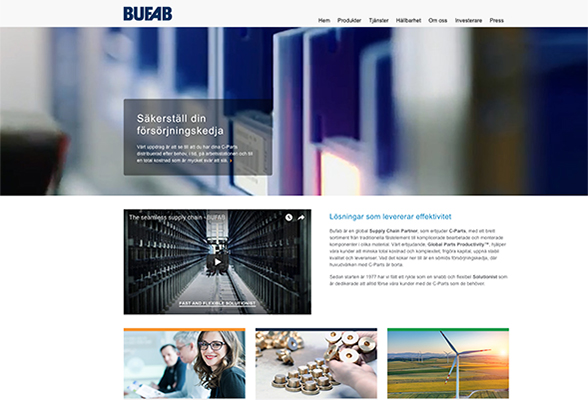 Bufab Sweden ABs website